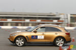 Sebastian Vettel tests the Infiniti FX50 and G37 in China