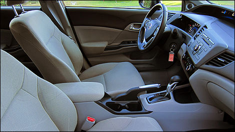 2012 Honda Civic berline EX interior