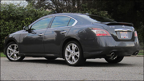 2012 Nissan Maxima 3.5 SV rear 3/4 view