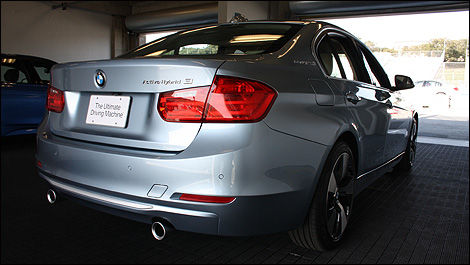 2012 BMW ActiveHybrid 3 3/4 rear view