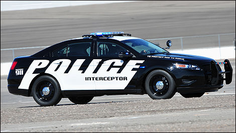 Ford Police Interceptor side view