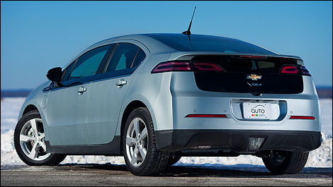 2012 Chevrolet Volt rear 3/4 view