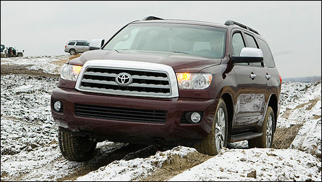 2012 Toyota Sequoia front 3/4 view