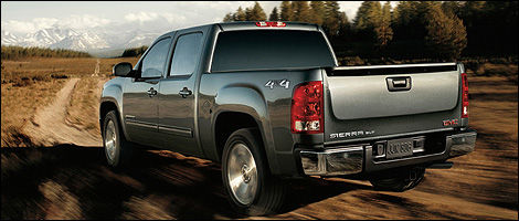 2012 GMC Sierra 1500 Crew Cab 4x4 All Terrain rear 3/4 view