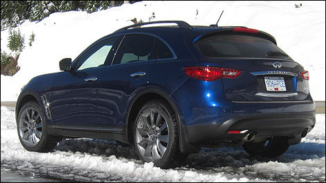 2012 Infiniti FX35 Limited Edition rear 3/4 view
