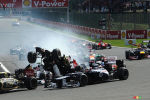 F1 Belgium: Photo gallery of the first-corner crash at Spa (+photos)