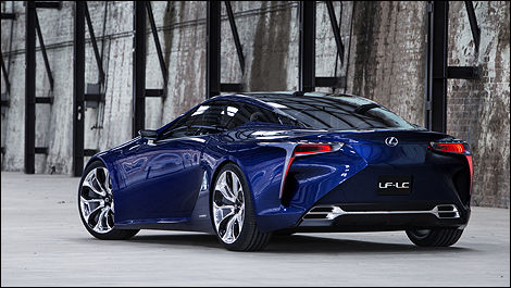 Lexus LF-LC Blue rear 3/4 view