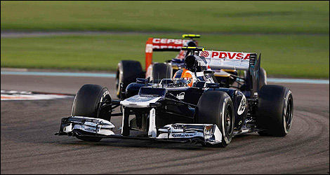F1 Williams Bruno Senna Abu Dhabi
