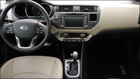 2012 Kia Rio SX Sedan interior