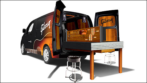 Nissan turns NV200 into mobile guitar workshop