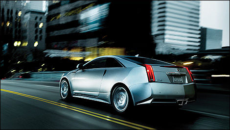 2014 Cadillac CTS Coupe rear 3/4 view
