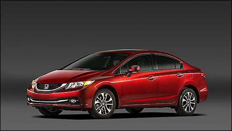 2014 Honda Civic Sedan 3/4 view