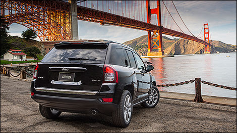 2014 Jeep Compass Limited rear 3/4 view
