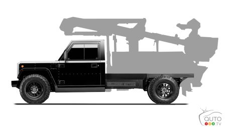 Bollinger B2CC, with silhouette