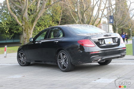2020 Mercedes-Benz E 450, three-quarters rear