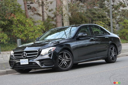 2020 Mercedes-Benz E 450, three-quarters front