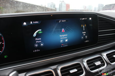 2020 Mercedes-Benz GLS 450, multimedia screen
