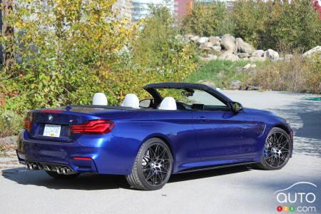 2020 BMW M4 Cabriolet, three-quarters rear