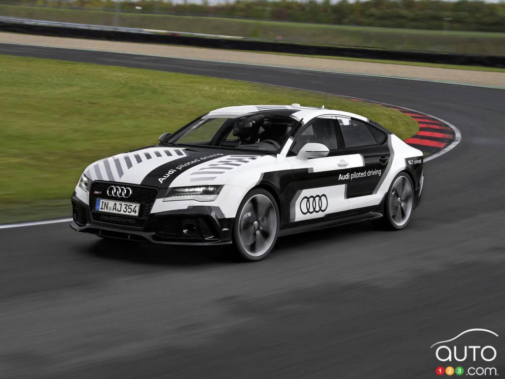audi rs 7 piloted driving la voiture autonome la plus sportive au mondev hicules neufs sur. Black Bedroom Furniture Sets. Home Design Ideas