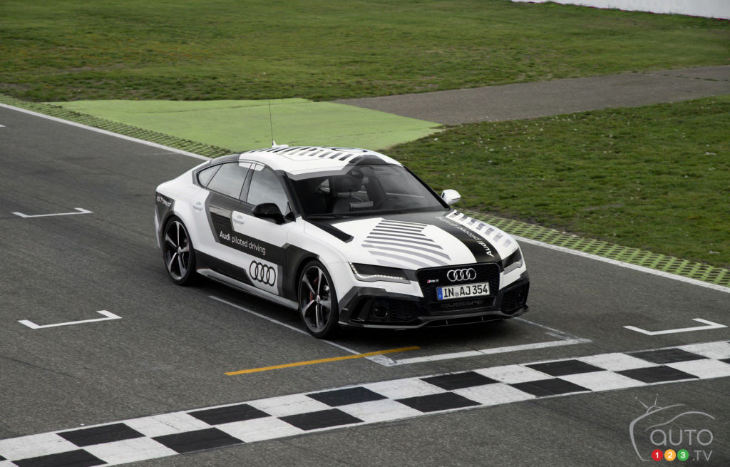 Watch the Audi RS 7 piloted driving concept lapping Hockenheim