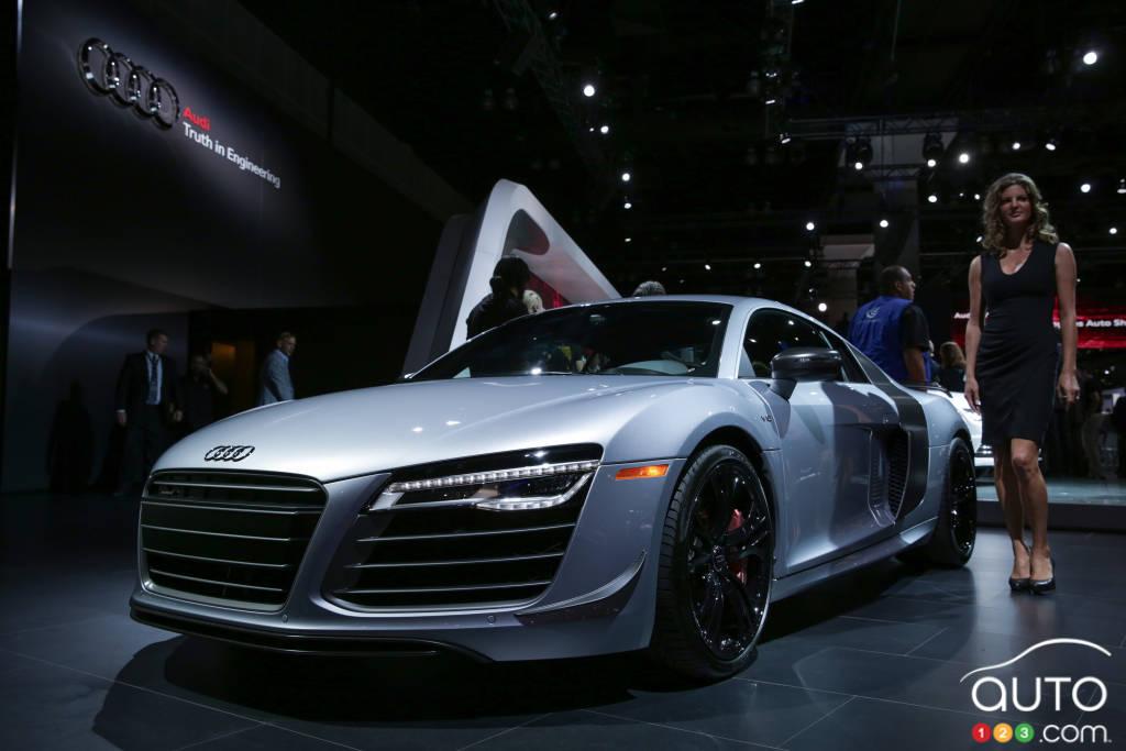 Los Angeles 2014 : photos de l'Audi R8 Competition 2015