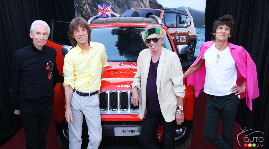 Jeep Renegade signed by The Rolling Stones up for bid (video)