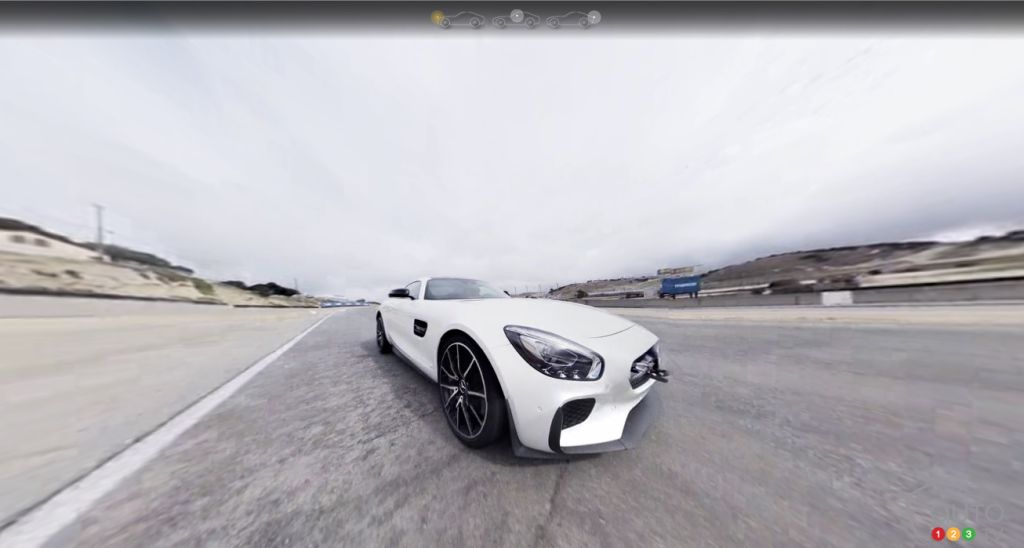 Mercedes-AMG GT S stars in 360-degree films