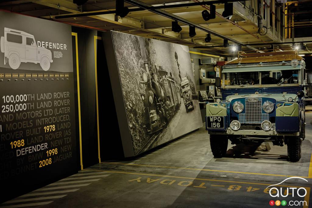 Land Rover présente une réplique de la ligne de montage de son premier 4X4 en 1948