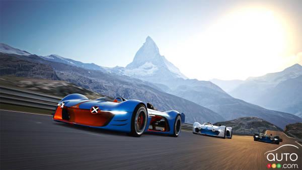 Voici l'Alpine Vision Gran Turismo, versions réelle et virtuelle