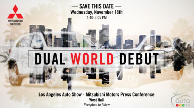 Mitsubishi announces dual world debut for Los Angeles Auto Show