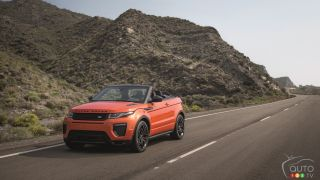 World premiere of Range Rover Evoque Convertible