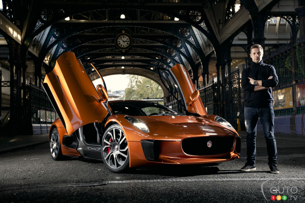 "All-new Jaguar C-X75 from ""Spectre"" makes public debut"