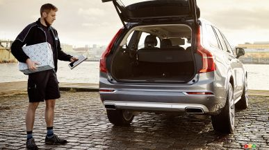 Volvo makes holiday shopping easier with in-car delivery!
