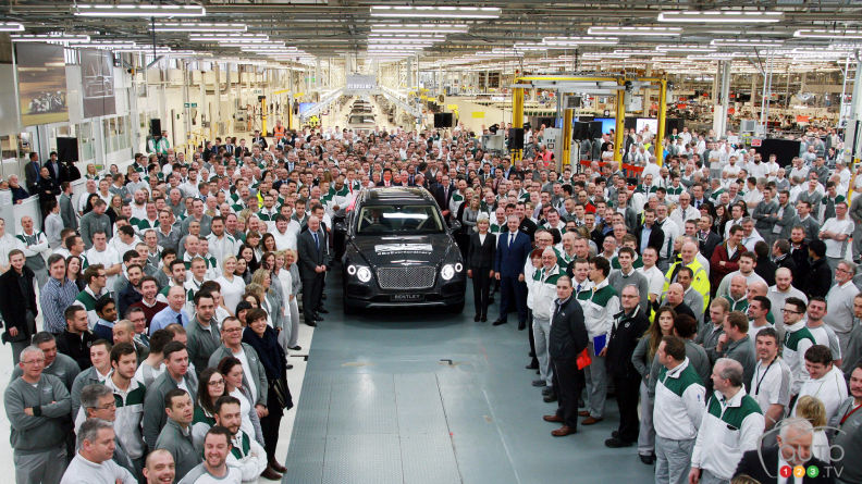 First Bentley Bentayga rolls off the assembly line