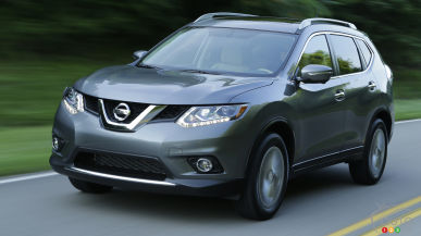 2015 Nissan Rogue recalled in Canada; over 10,000 units affected