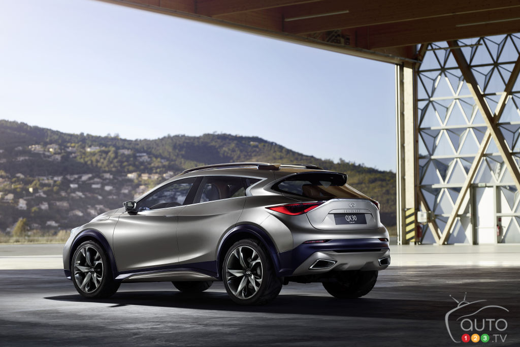 Infiniti shows first complete pic of QX30 Concept