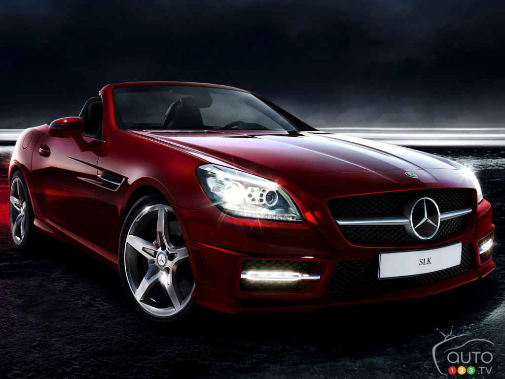 mercedes benz classe slk 2015 aper u nouvelles auto123. Black Bedroom Furniture Sets. Home Design Ideas