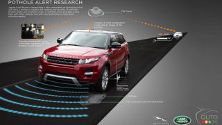 Jaguar Land Rover announces pothole-busting technology