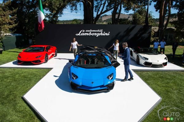 Lamborghini Aventador LP 750-4 Superveloce Roadster à Pebble Beach