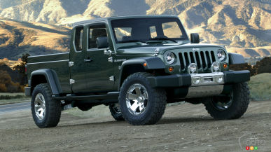 Jeep considering Wrangler-based pickup for 2017 or 2018