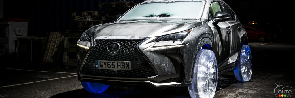 Lexus NX Rides on Set of Wheels Made of Ice