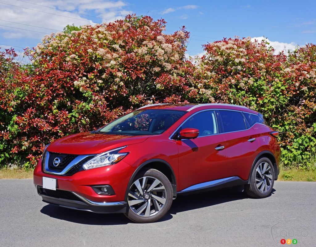 2016 nissan murano leads top 5 midsize suv list car news auto123. Black Bedroom Furniture Sets. Home Design Ideas