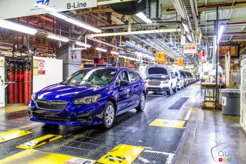{u'en': u'The first Subaru Impreza to be built in America'}