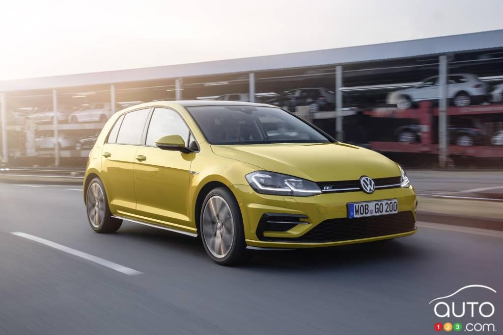 Volkswagen Golf Shows Tweaked Design In Leaked Photos