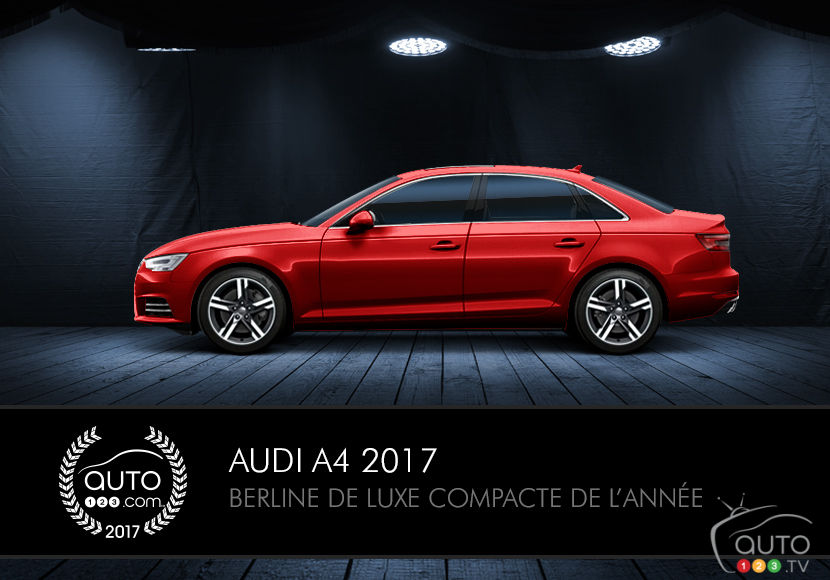 l audi a4 2017 lue berline de luxe compacte de l ann e actualit s automobile auto123. Black Bedroom Furniture Sets. Home Design Ideas