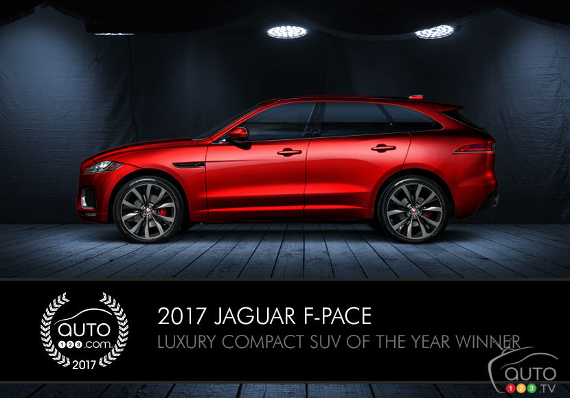 2017 jaguar f pace wins auto123 s luxury compact suv award car news auto123. Black Bedroom Furniture Sets. Home Design Ideas