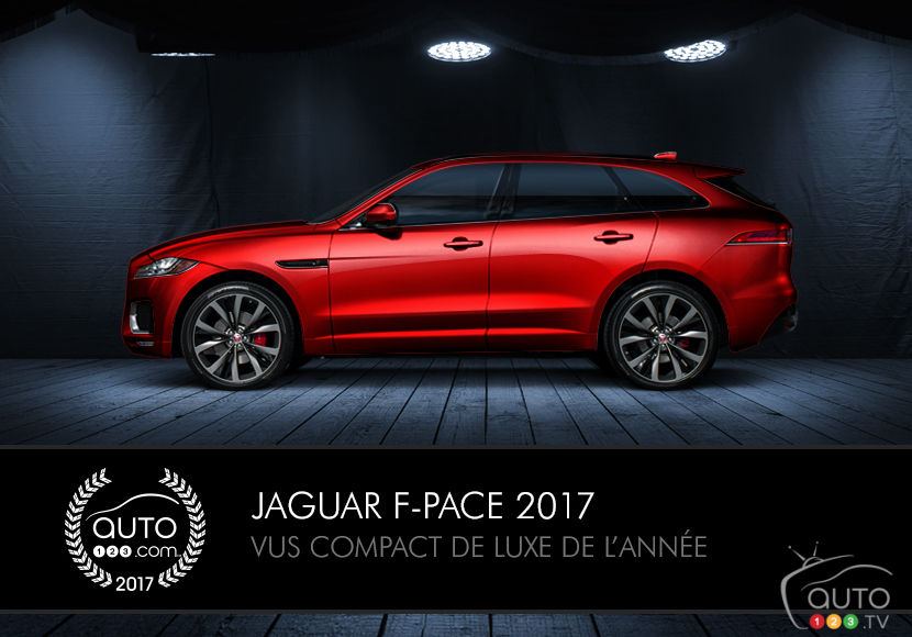 le jaguar f pace 2017 lu vus compact de luxe de l ann e actualit s automobile auto123. Black Bedroom Furniture Sets. Home Design Ideas
