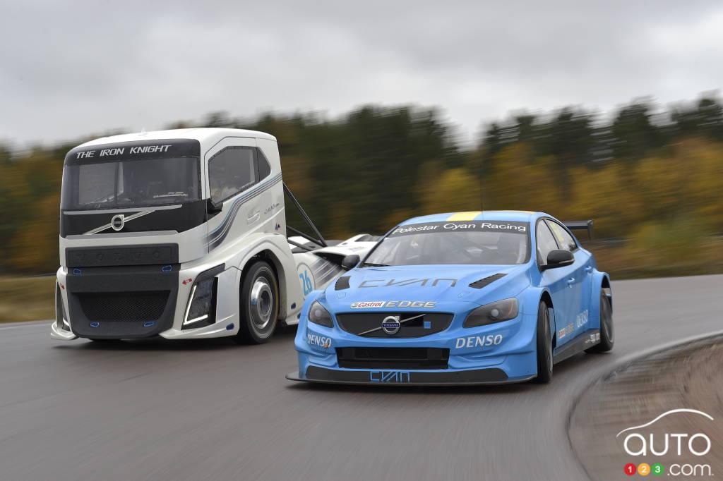 Volvo's 2,400hp Iron Knight truck vs. 400hp S60 Polestar | Car News | Auto123