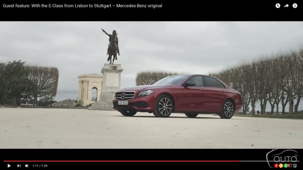 Mercedes-Benz E-Class cruises from Lisbon to Stuttgart