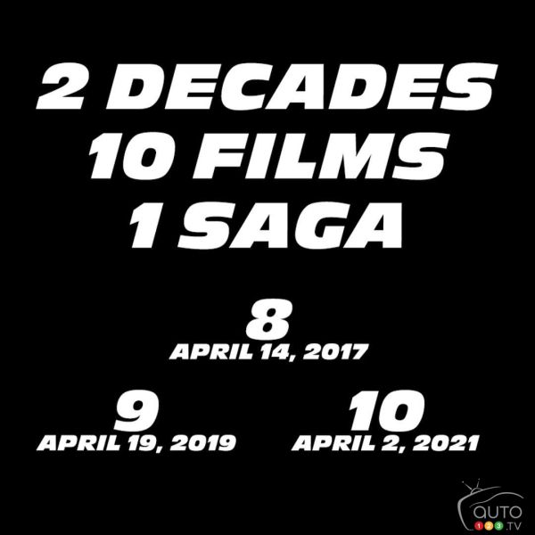 """Fast and Furious"" 9 and 10 release dates announced"